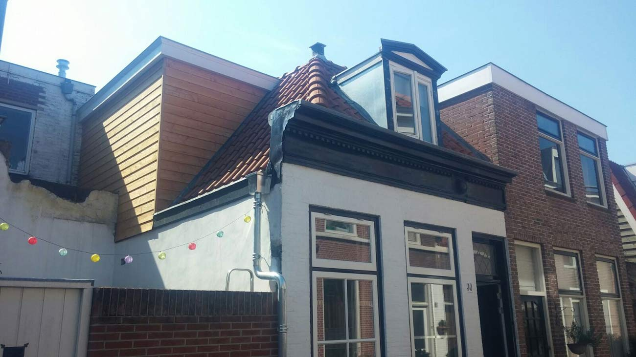 Houten dakopbouw Haarlem