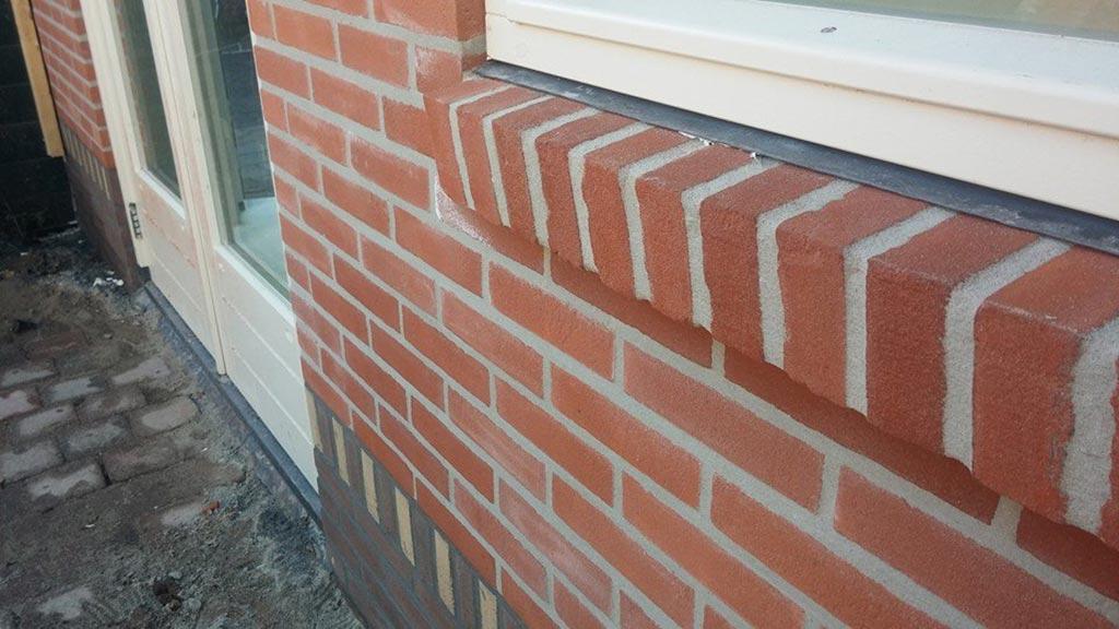 Detailfoto stenen garage Haarlem