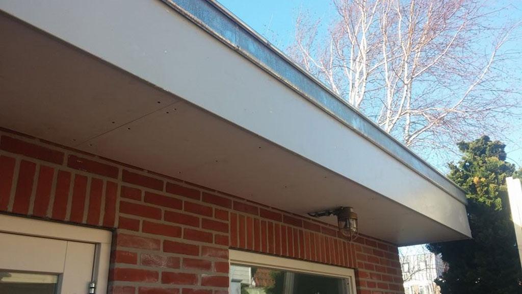 Bovenkant stenen garage