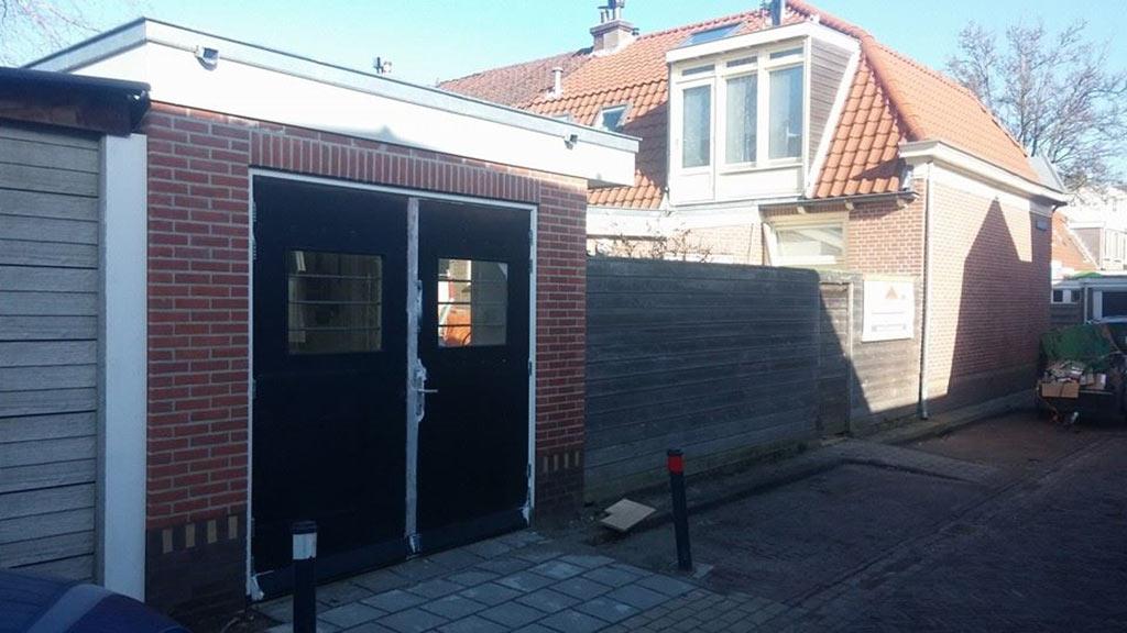 Eindresultaat compleet nieuwe stenen garage